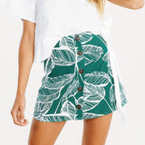 Tropical Leaf Mini Skirt