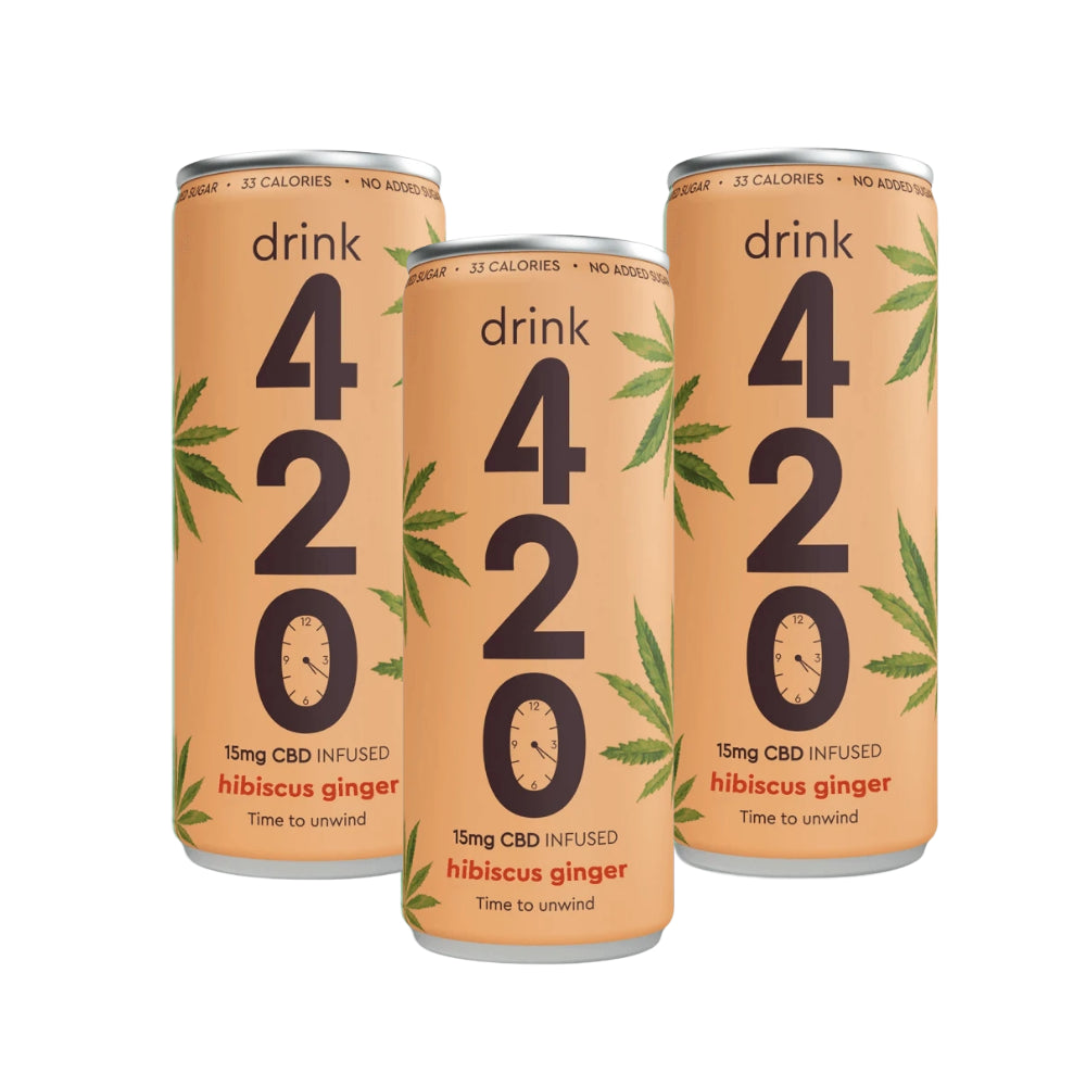 Drink 420: CBD infused Hibiscus & Ginger