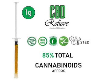 CBD Relieve 1g Full Spectrum Rich Hemp Oil