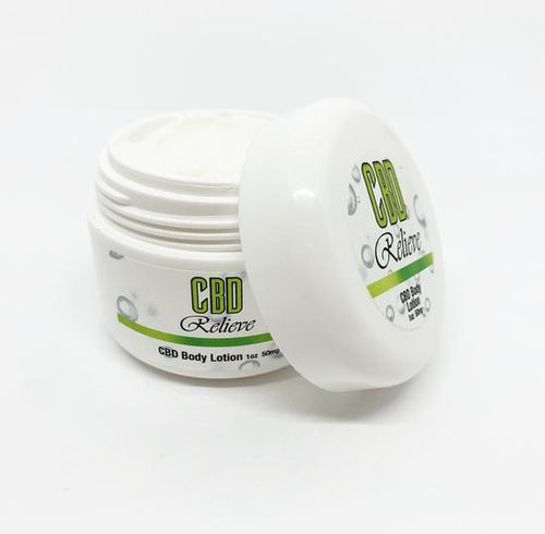 CBD Relieve 1oZ Body Lotion - 50mg