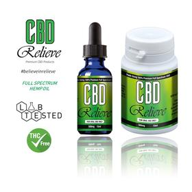 CBD Relieve 15ml Oral Tincture Liquid - 500mg