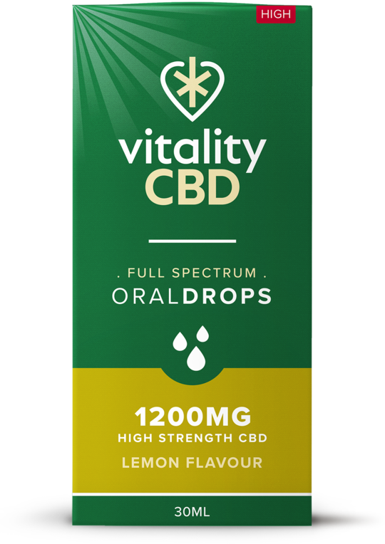 Vitality CBD Oral Drops 30ml - 1200mg