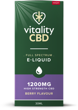 Load image into Gallery viewer, Vitality CBD Eliquid 30ml - 1200mg