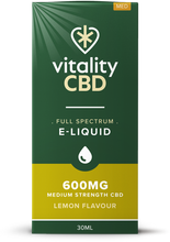Load image into Gallery viewer, Vitality CBD Eliquid 30ml - 600mg