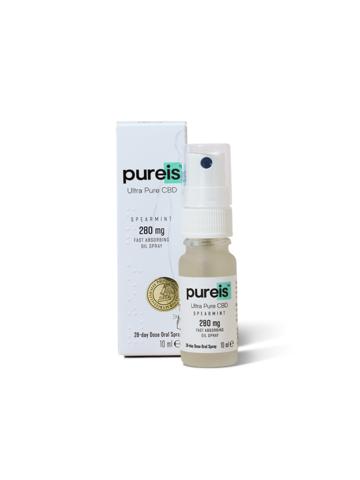 Pureis Fast Absorbing Spearmint Oil 280mg 10ml Spray