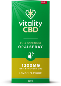 Vitality CBD Oral Spray 30ml - 1200mg