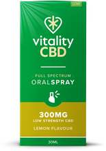 Load image into Gallery viewer, Vitality CBD Oral Spray 30ml - 300mg