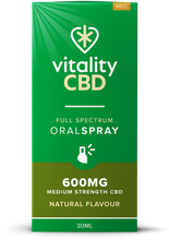 Load image into Gallery viewer, Vitality CBD Oral Spray 30ml - 600mg