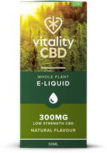 Load image into Gallery viewer, Vitality CBD Eliquid Whole Plant 30ml - Natural