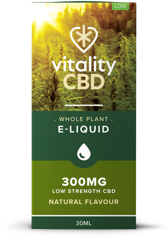Vitality CBD Eliquid Whole Plant 30ml - Natural