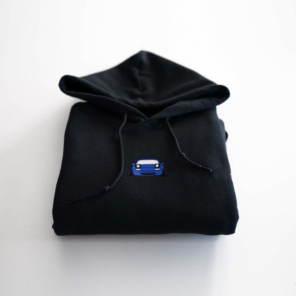 Mariner Blue Embroidered Miata Hoodie