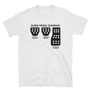 Subaru Pedal Diagram T-Shirt