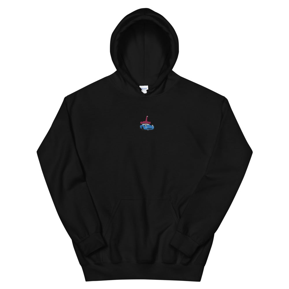 Embroidered Miata Flamingo Hoodie