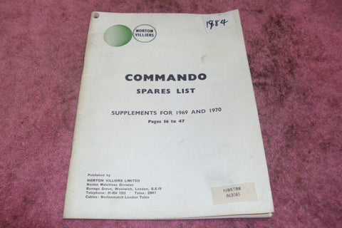Norton Commando Spares List ***