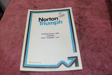 Norton/Triumph Parts List ***