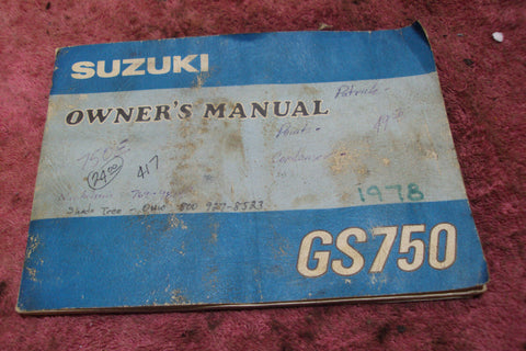 Suzuki GS750 Owners Manual ***