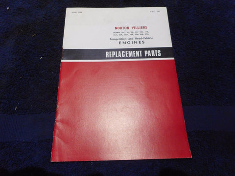 Norton/Villiers Replacement Parts Manual ***