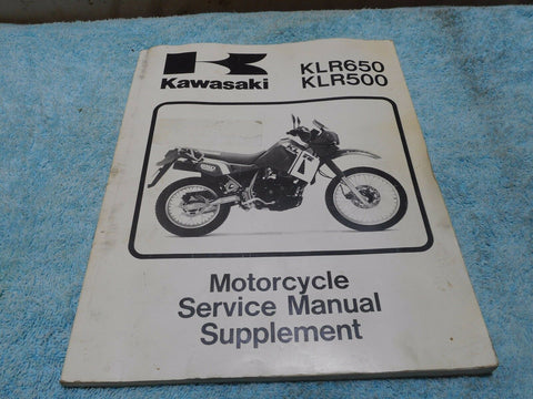 Kawasaki KLR650/500 Worksop Manual ***