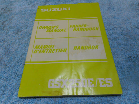 Suzuki GSX 250C/CS Owners Manual ***