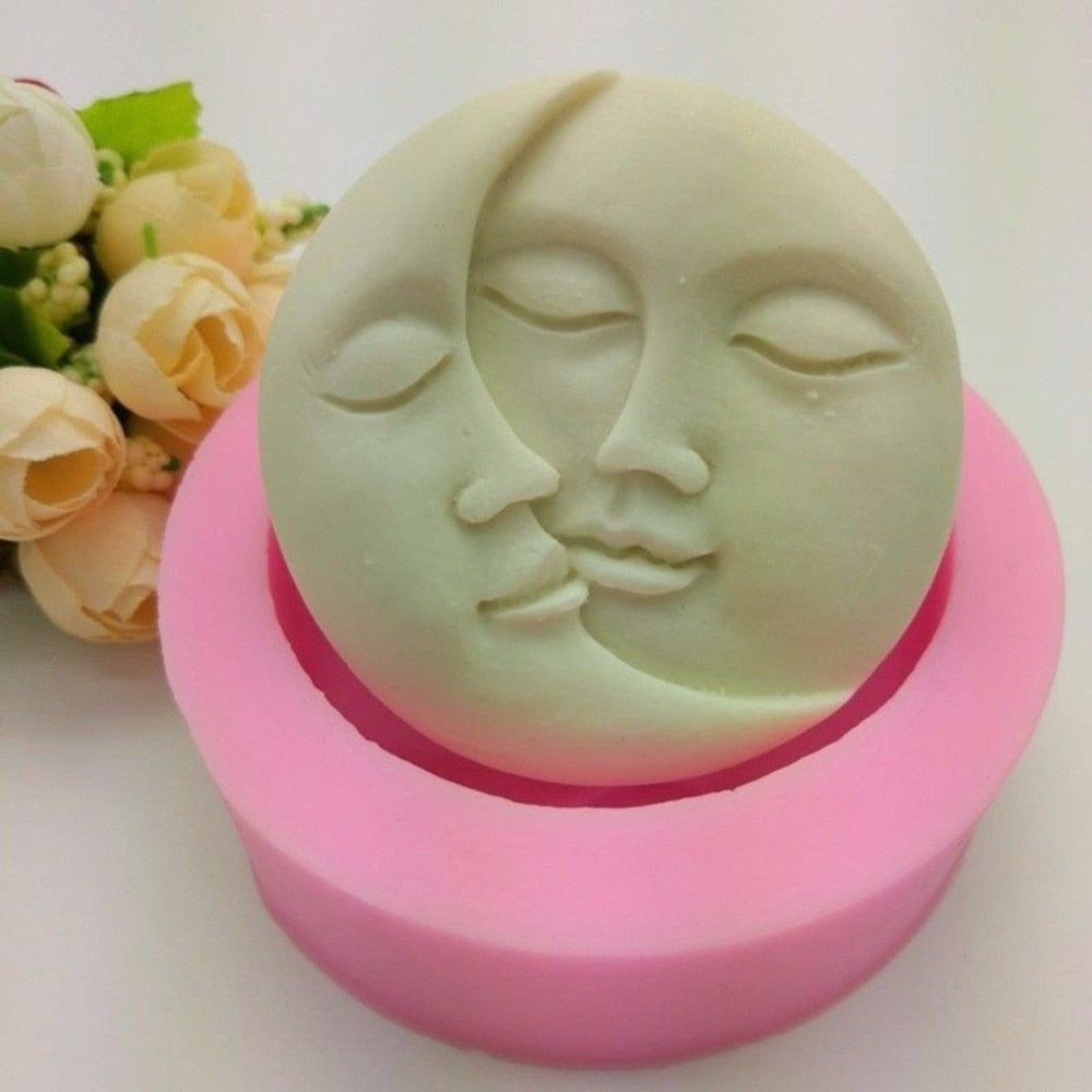 Sun & Moon Faces Silicone Soap Mold