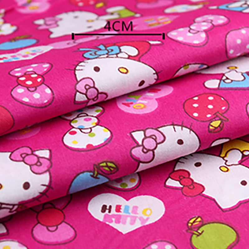 100% Cotton Hello Kitty Printed Fabric