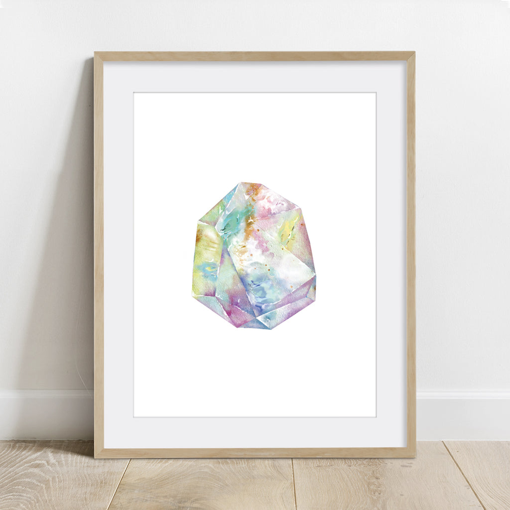 Opal Quartz Crystal Art Print