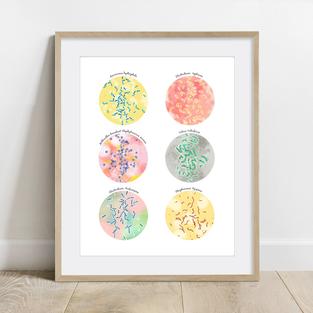Flesh Eating Bacteria Collection Print