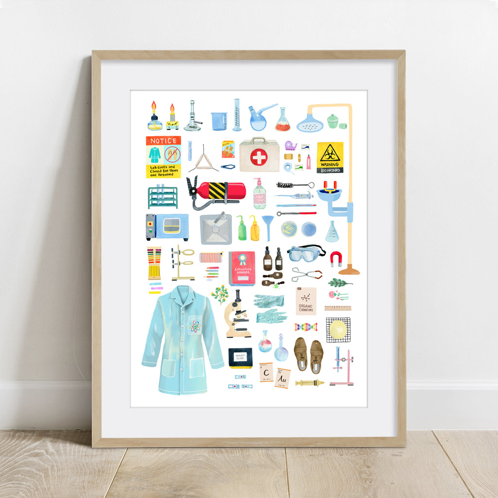Things in the Science Lab Poster Art Print