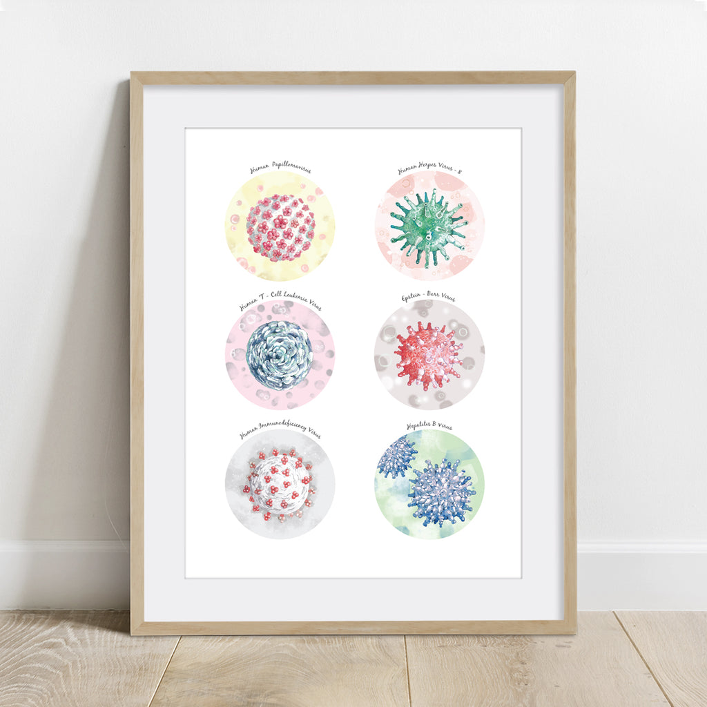 Cancer Causing Viruses Collection Print