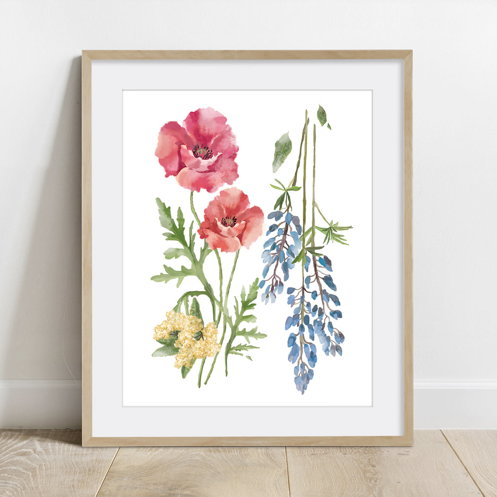 California Native Flowers Print