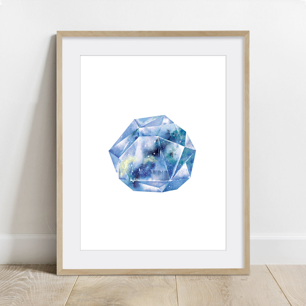 Tanzanite Quartz Blue Crystal Art Print