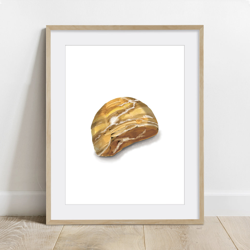 Tiger Eye mineral Stone Art Print