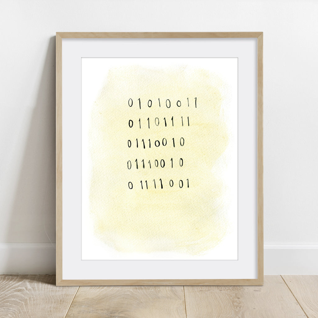 "Binary Code ""Sorry"" Print"