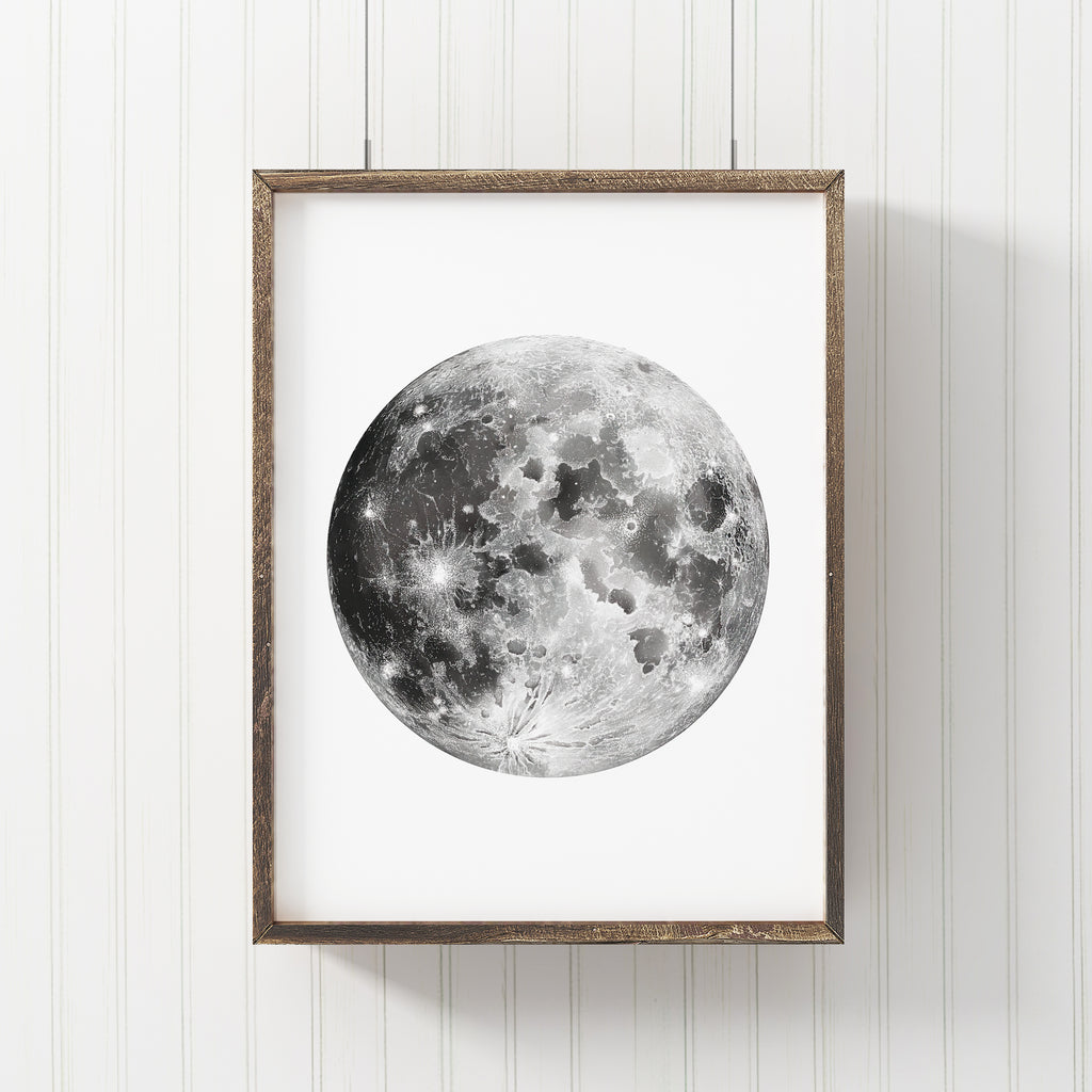 Detailed Moon Art Print