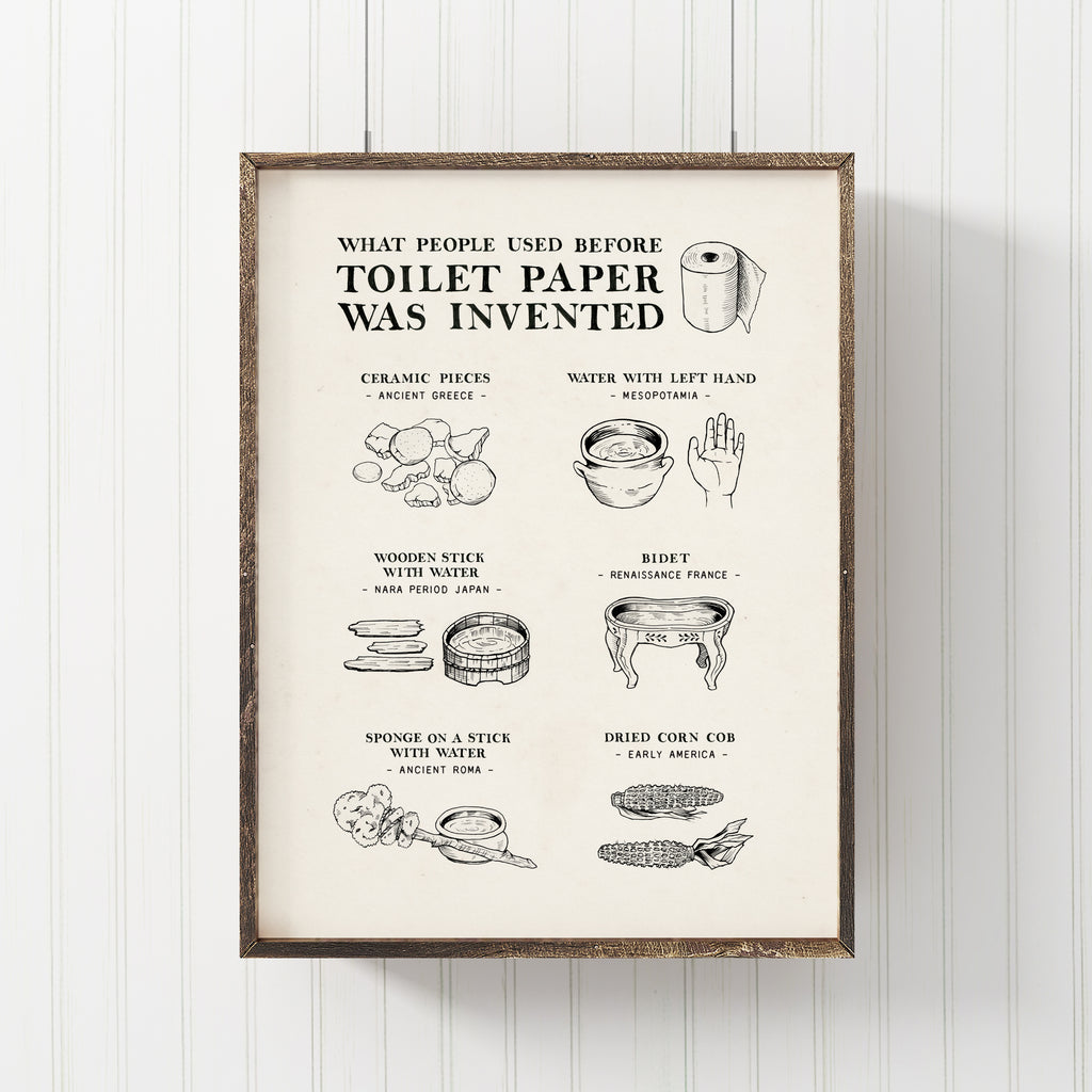 What People Used Before Toilet Paper Was Invented Art Print