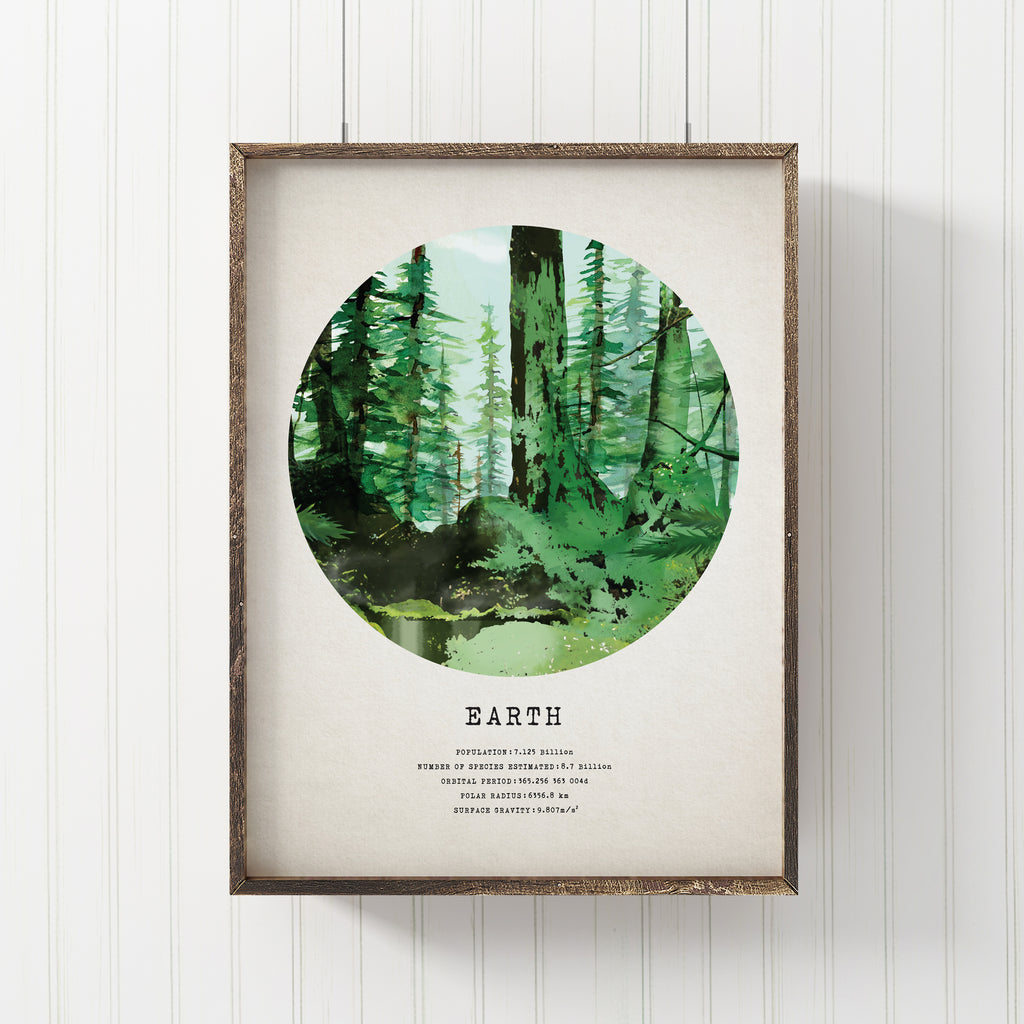 Earth Forest Art Print
