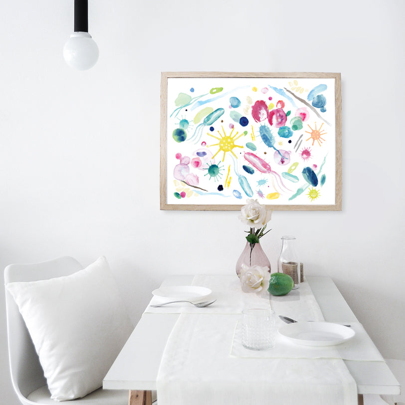 Animalcules Abstract Watercolor Print