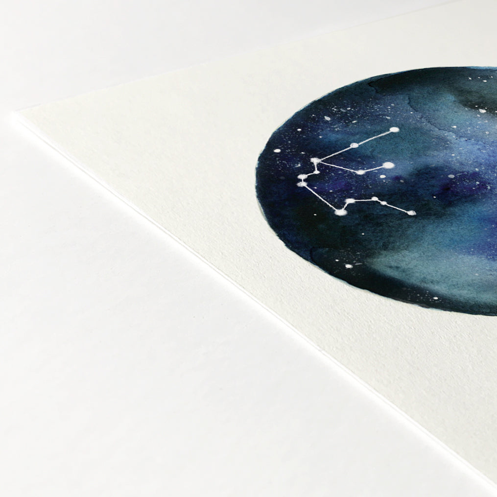 Aquarius Astrological Sign Constellation Print