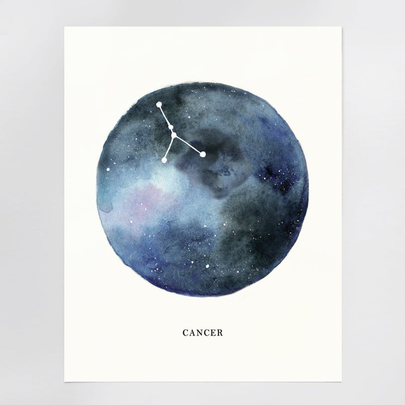 Cancer Astrological Sign Constellation Print