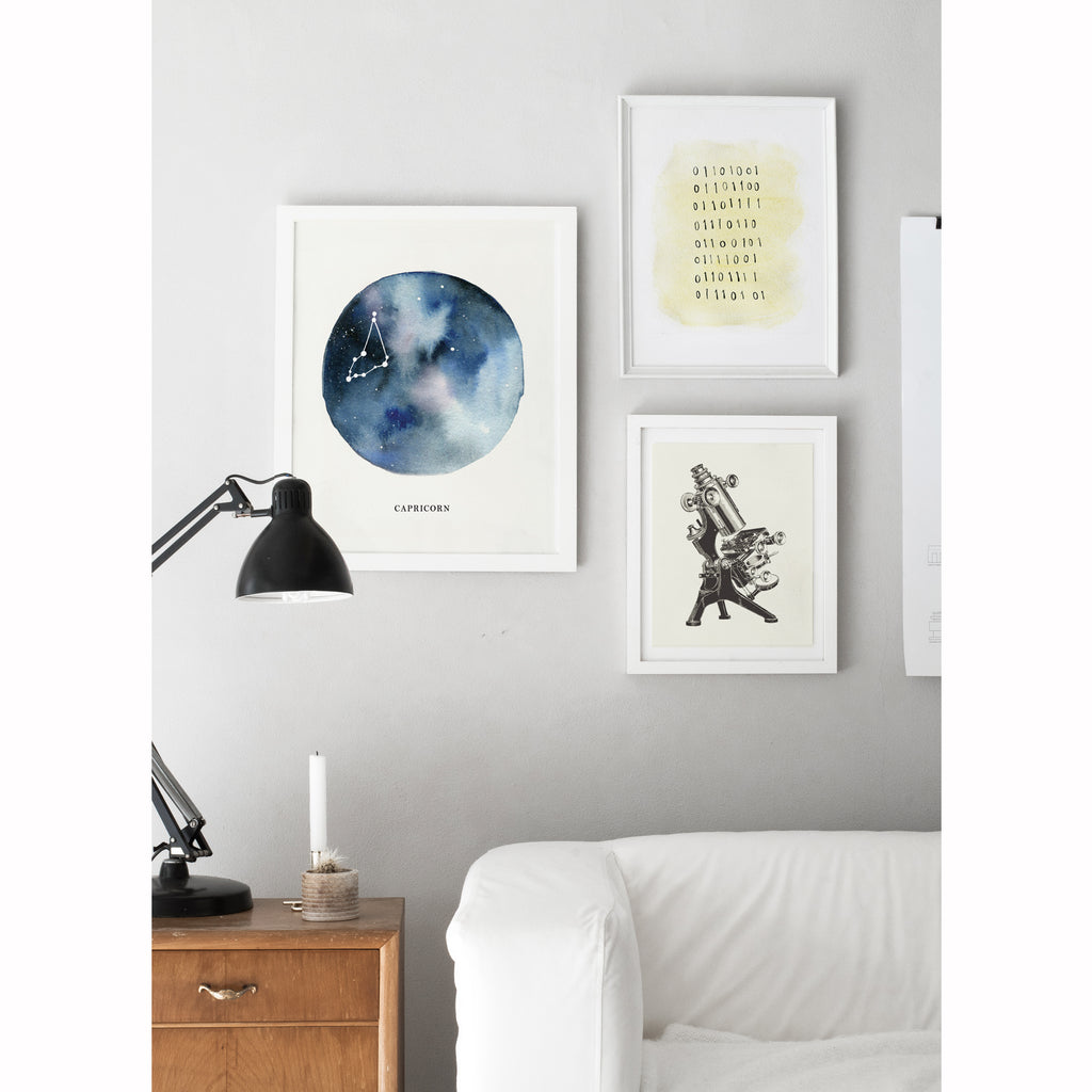Capricorn Astrological Sign Constellation Print