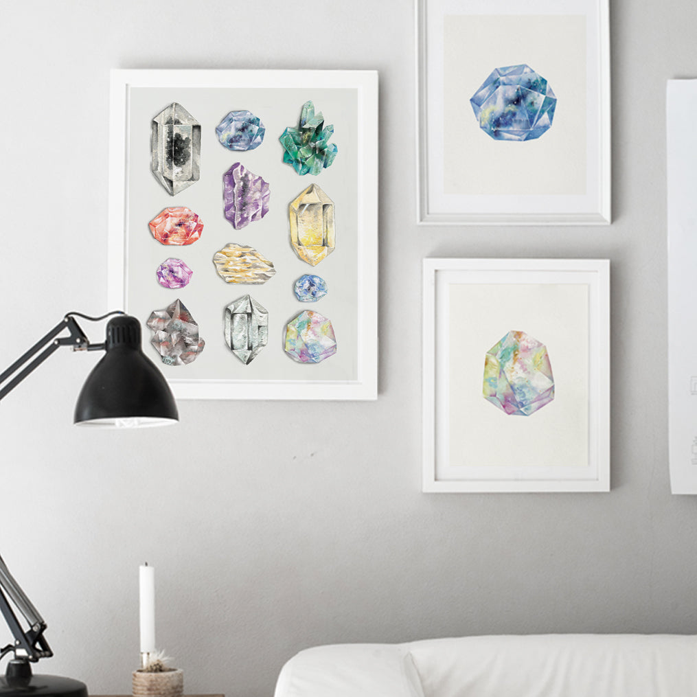 Crystal Quartz Collection Art Print