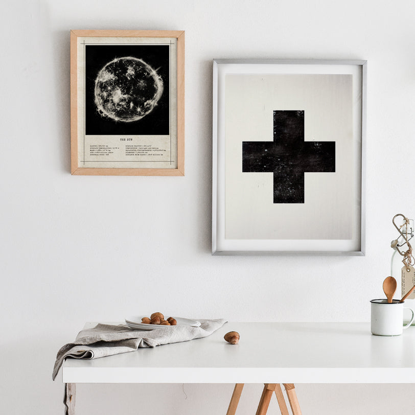 Cross Geometric Shape Art Print