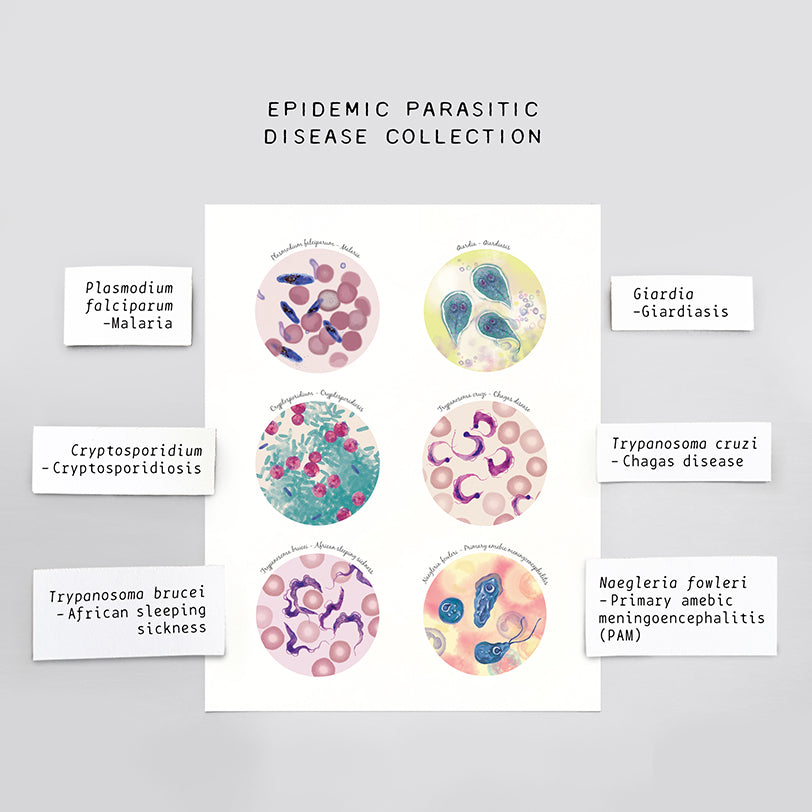 Epidemic Parasitic Disease Collection Print