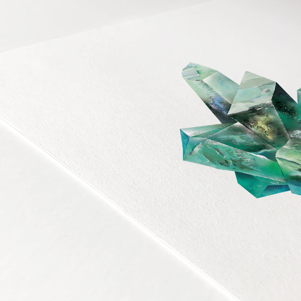 Emerald Quartz Crystal Art Print