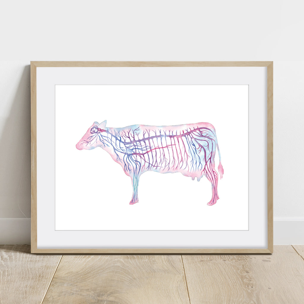 Cattle Nervous System Art Print Horizontal
