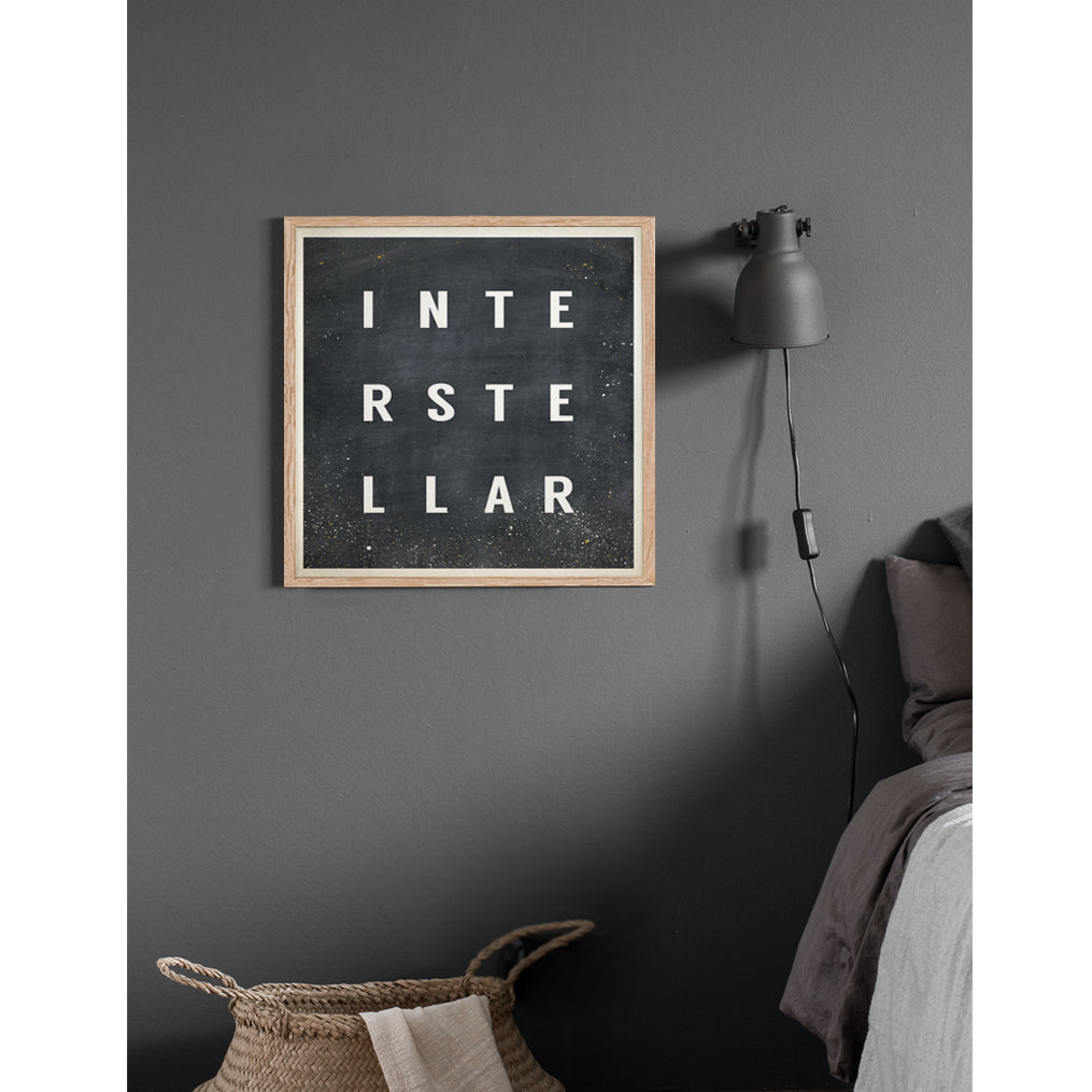 Interstellar Typography Print