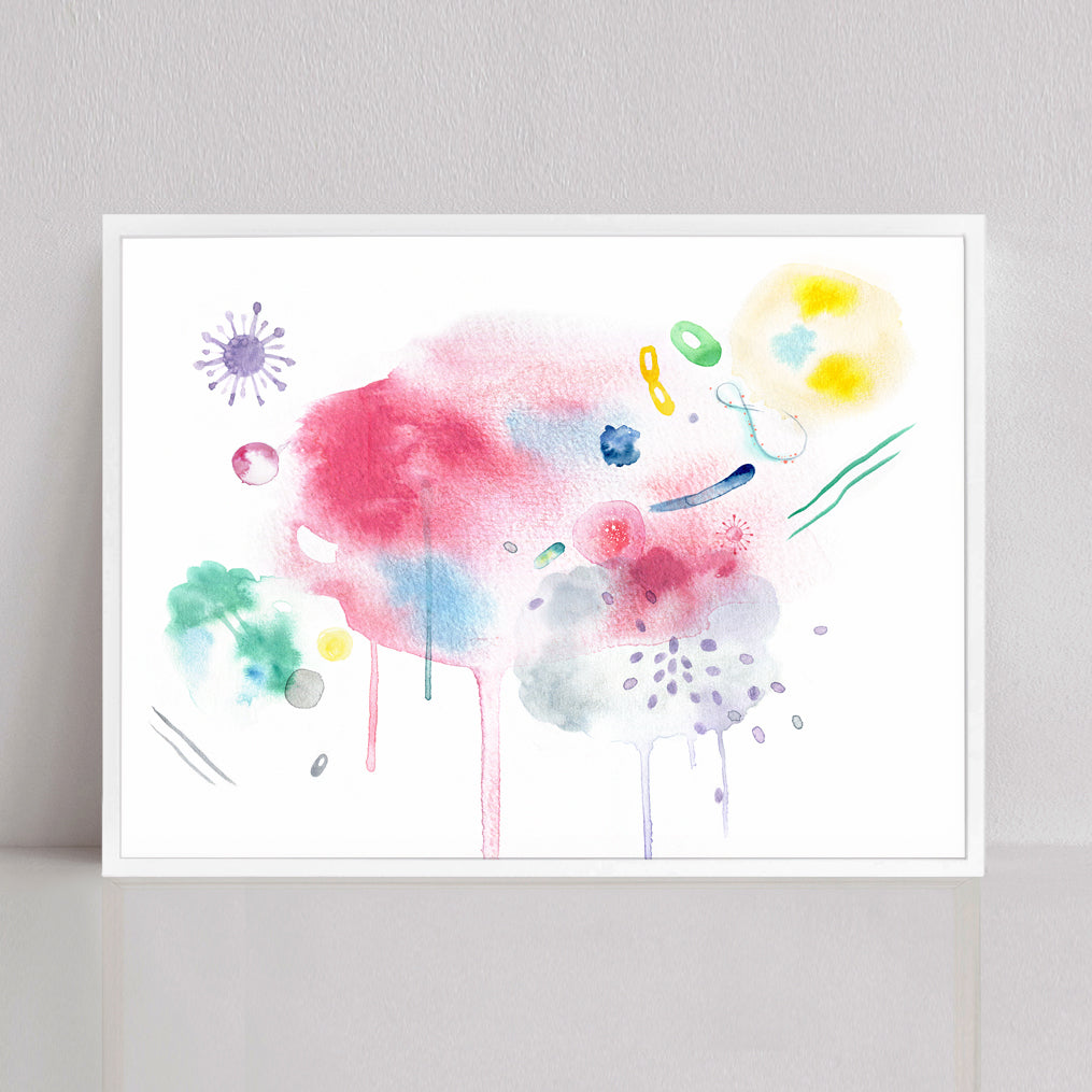 Bacteria Culture Abstract Watercolor Print