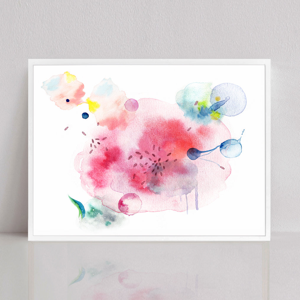 Bacteria Abstract Watercolor Print