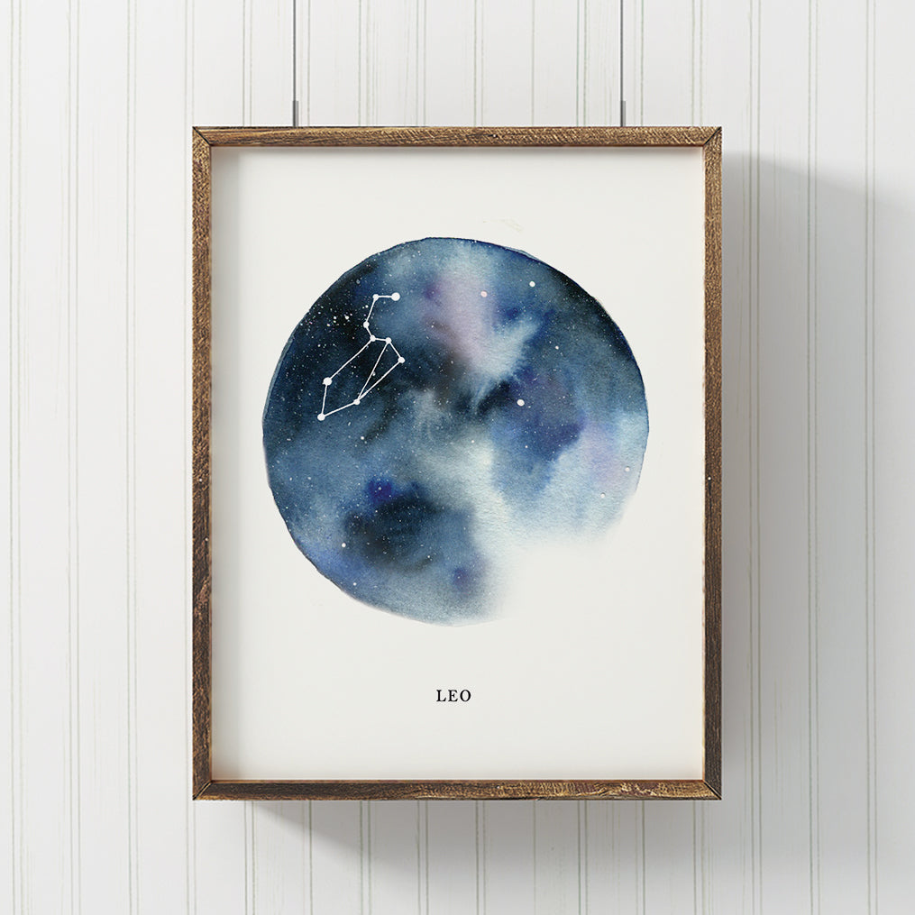 Leo Astrological Sign Constellation Print