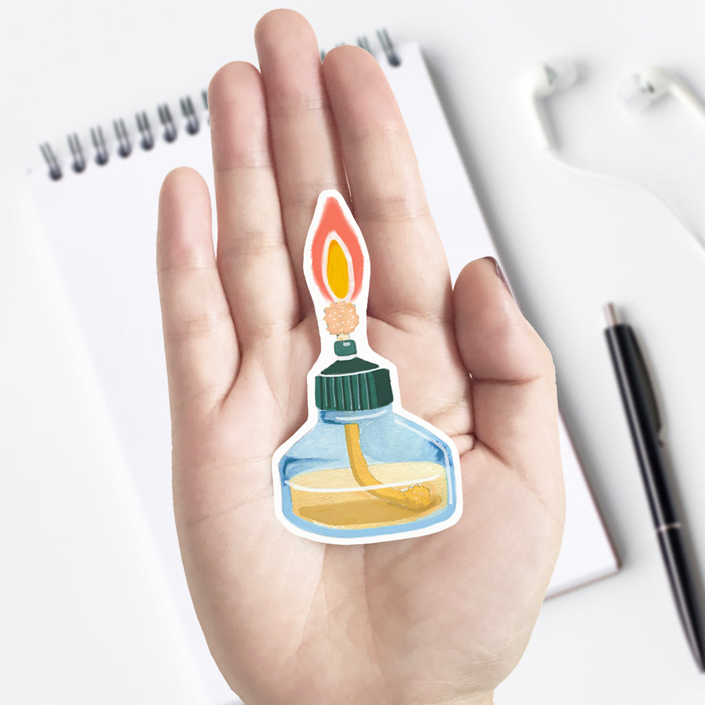 Chemistry Alcohol Burner Vinyl Sticker